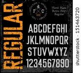 handmade retro font. grunge...   Shutterstock .eps vector #151463720