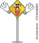 crazy traffic light ahead on... | Shutterstock .eps vector #1514638883