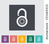 padlock. single flat icon.... | Shutterstock .eps vector #151465313