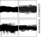 set of grunge backgrounds   Shutterstock .eps vector #151466273