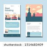 travelling app ui mobile...