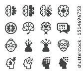 alzheimer disease icon set... | Shutterstock .eps vector #1514696753
