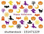 halloween party card | Shutterstock .eps vector #151471229