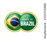 brazil flag  vector... | Shutterstock .eps vector #1514715680