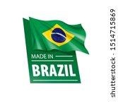 brazil flag  vector... | Shutterstock .eps vector #1514715869