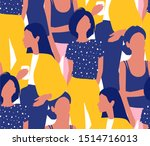 vector seamless pattern with... | Shutterstock .eps vector #1514716013