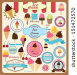 collection of ice cream design... | Shutterstock .eps vector #151472570