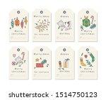 vector linear design christmas... | Shutterstock .eps vector #1514750123