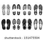various shoe prints  vector... | Shutterstock .eps vector #151475504