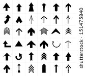 upper arrow icons set | Shutterstock .eps vector #151475840