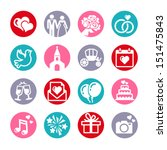 web icons set. wedding  bride... | Shutterstock .eps vector #151475843