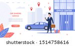 banner illustration renting car ... | Shutterstock . vector #1514758616