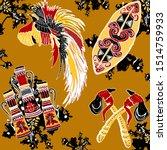 cendrawasih batik motifs war...   Shutterstock .eps vector #1514759933