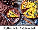 Close Up Of Sliced Pumpkin Pie...
