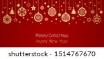 christmas haw card or banner.... | Shutterstock .eps vector #1514767670