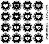 heart icon set | Shutterstock .eps vector #151478996