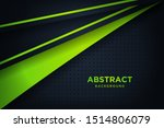modern black background with 3d ... | Shutterstock .eps vector #1514806079