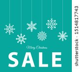 christmas paper card with...   Shutterstock .eps vector #1514817743