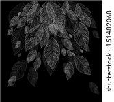 falling leaves.  | Shutterstock .eps vector #151482068