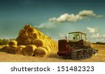 Haystacks On The Field. After...