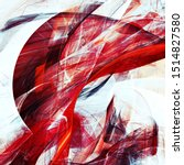Abstract White And Red Color...