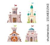 fairytale castles  fantasy... | Shutterstock .eps vector #1514831543