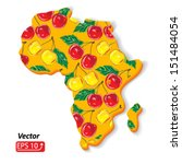 africa cherry pattern isolated... | Shutterstock .eps vector #151484054