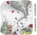 illustration of a huge tornado... | Shutterstock .eps vector #151484390