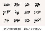 2020 text design  collection of ... | Shutterstock .eps vector #1514844500