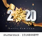 2020  happy new year. happy new ... | Shutterstock .eps vector #1514844899