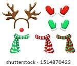 vector reindeer face template...   Shutterstock .eps vector #1514870423