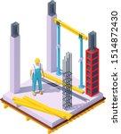 vector isometric monolithic... | Shutterstock .eps vector #1514872430