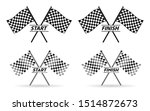 set of racing flag  finish and... | Shutterstock .eps vector #1514872673
