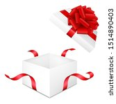 realistic white box with red... | Shutterstock .eps vector #1514890403