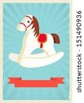 hobby horse background in retro ... | Shutterstock .eps vector #151490936