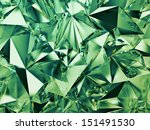 3d Abstract Green Crystal...
