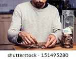 Man Counting His Money In...