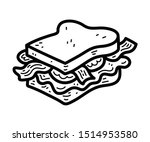 blt bacon  lettuce  tomato... | Shutterstock .eps vector #1514953580