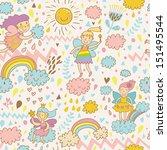 childish bright seamless... | Shutterstock .eps vector #151495544