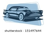 retro car silhouette. vector...