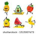 different fruits do yoga in...   Shutterstock .eps vector #1515007673