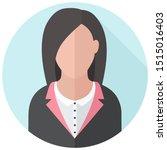 vector  icon businesswoman... | Shutterstock . vector #1515016403