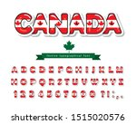 canada cartoon font. canadian... | Shutterstock .eps vector #1515020576