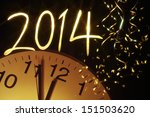 new year clock before midnight... | Shutterstock . vector #151503620