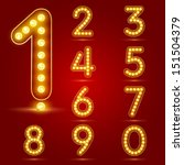 number set with realistic lamp  ... | Shutterstock .eps vector #151504379
