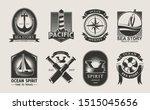 ocean logotype set. marine... | Shutterstock .eps vector #1515045656