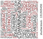 word cloud   communication | Shutterstock . vector #151505450