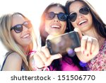 outdoor portrait of three... | Shutterstock . vector #151506770