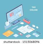 online tax form filling on... | Shutterstock .eps vector #1515068096