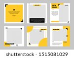 set of editable minimal... | Shutterstock .eps vector #1515081029